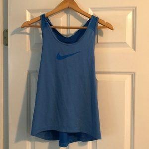 Nike Pro medium light blue tank